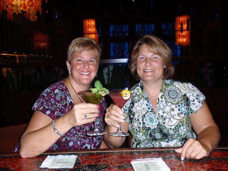 Enjoying a fantastic pre dinner martini