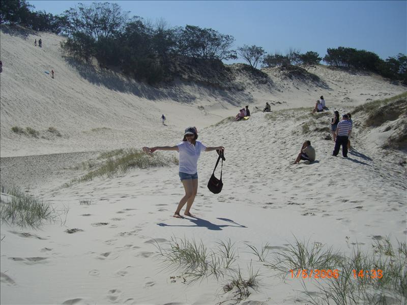 sand tobbogan area