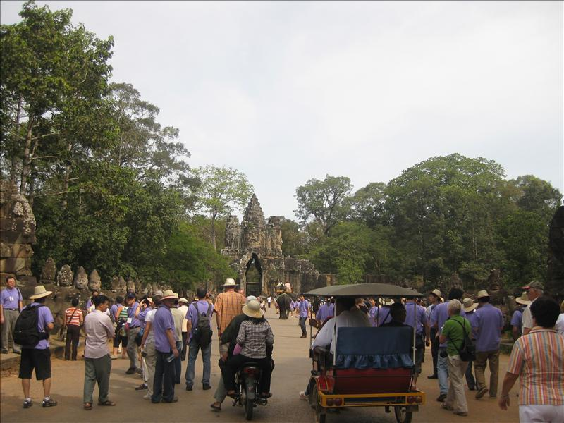 Entering Angkor Thom, the Great City, which is 10 sq km.