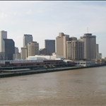 Leaving New Orleans on a cruise liner for Mexico