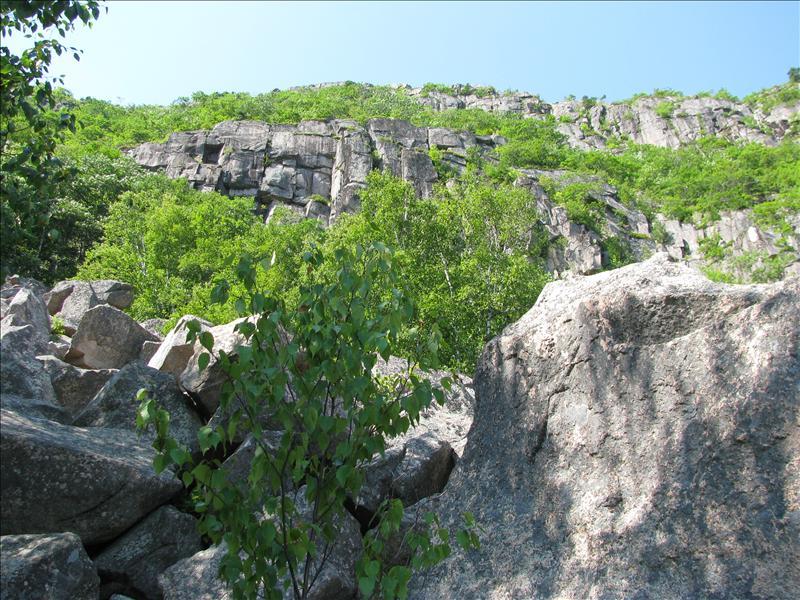 volgende beklimming de steilste berg van het park.