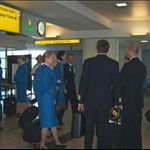 This was taken at the JFK airport and our crew for my next flight on Aer Lingus.