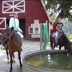 riding the horses at Tan-Tara Resort, Lake of the Ozarks, Missouri, USA
