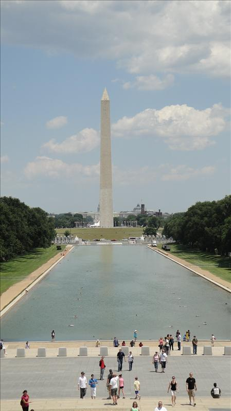 View of Washington Monument from Lincoln