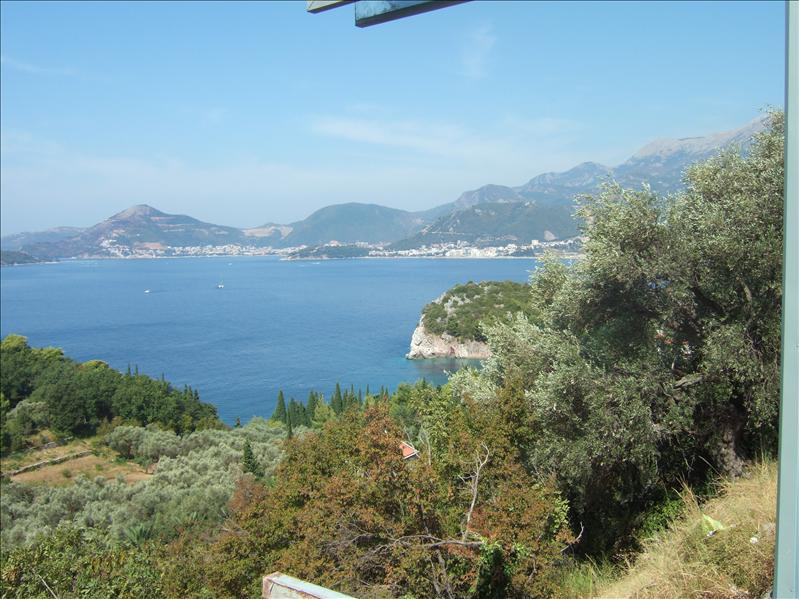View to Budva from above Sveti Stefan