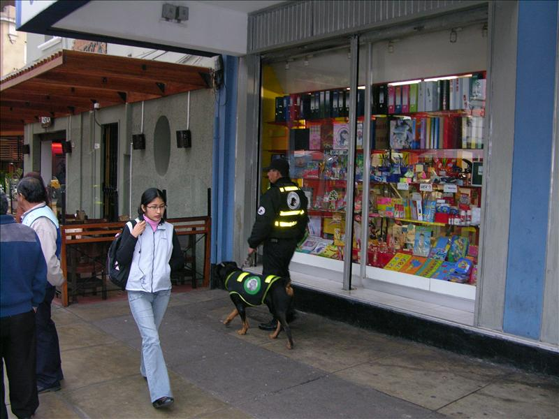 The canine brigade in Lima uses Rottweilers.  Made me think of Archie.