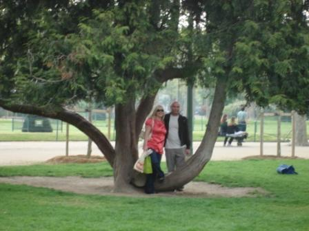 Jen & Mark in the tree