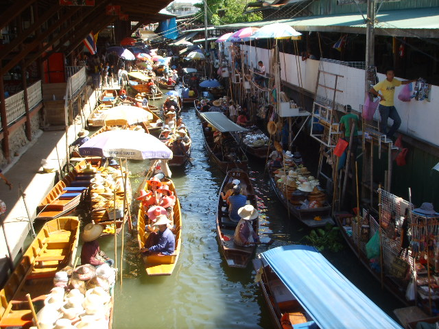 The famous floating market