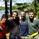 Ben, Me, Max, David On the Ropes Course