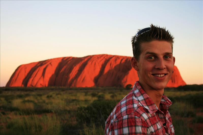 Sunset at Uluru.