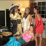 Drunken Pirate, Cleopatra, Flapper, Mermaid