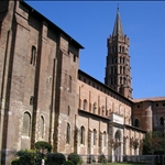 Toulouse is built of red brick including the basilica St-Sernin....