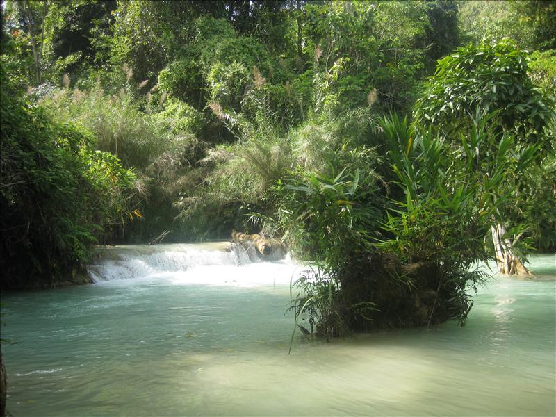 Trek to the Kuang Si Waterfalls