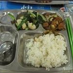 7/14在西安交大的第一頓午餐,這樣量的飯只要一毛錢,超便宜!不過還是台灣的米比較好吃!