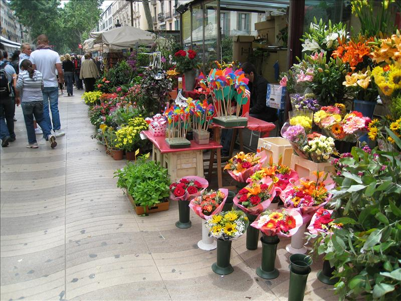 Flower shop on Las Ramblas