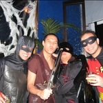 batman, trojan warrior, zorro (oops! el bandino hahah), and robin