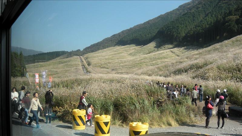 這些人都是要登頂去看富士山  我們沒空去  殘念