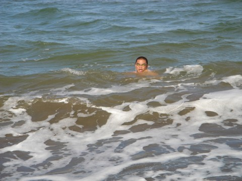 That's me in the water