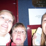We were stuck in the lift at the hotel in Dover.  I was scared as you can tell by my face.