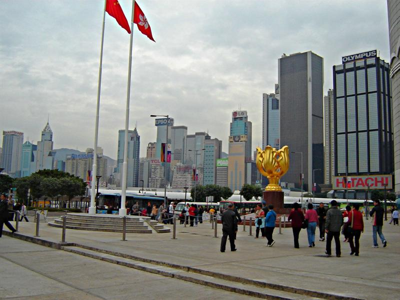 View of Wanchai from Hong Kong Exhibition Center