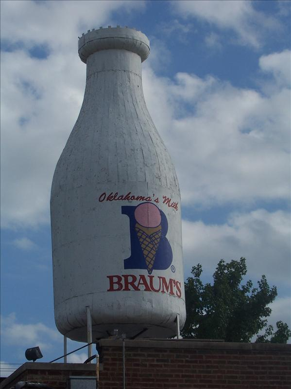 Giant milk bottle in OKC