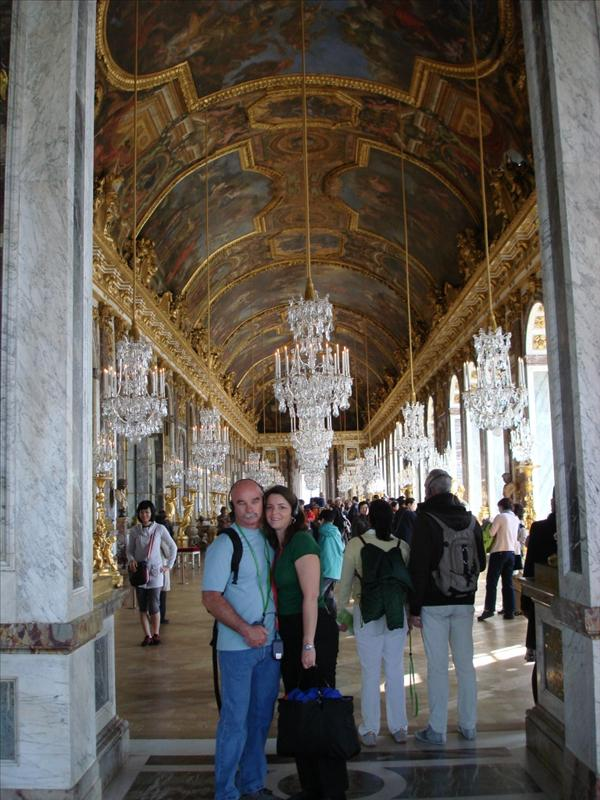 Mark & Tricia at the Hall of Mirrors