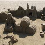 Sitges sand sculpture....