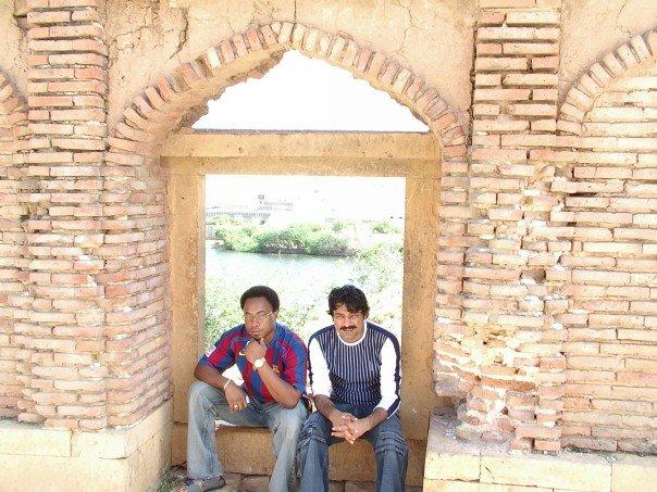 Me and Collin in Maklin Graveyard (one of the world biggest and oldest greaveyard) Thatta, pakistan.