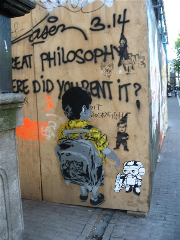 Banksy? (well known graffiti artist)