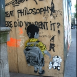 Banksy? (well known graffiti artist)