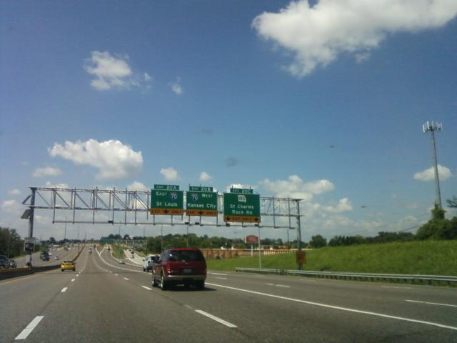 I-70 intersects with I-270 here