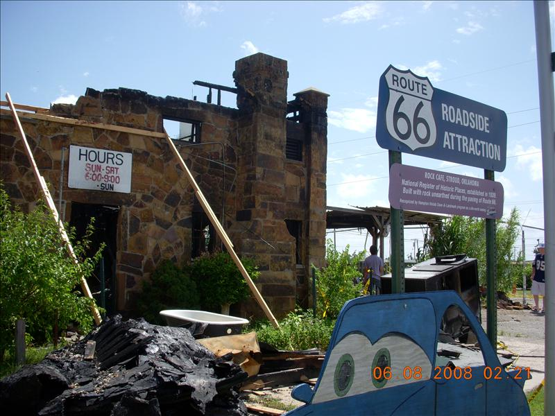 It's a shame the historic rock cafe burned.  They are going to restore it.