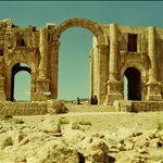 The Emperor Hadrian visited Jerash in AD 129-130. The triumphal arch (or Arch of Hadrian) was built to celebrate his visit.