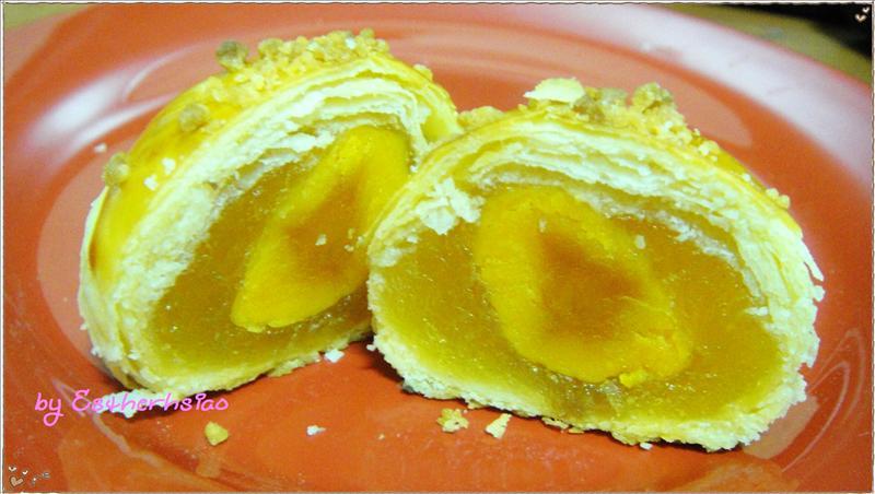 鳳梨蛋黃酥斷面