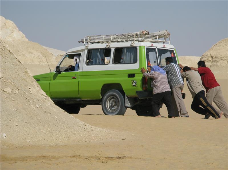 Pech in de woestijn