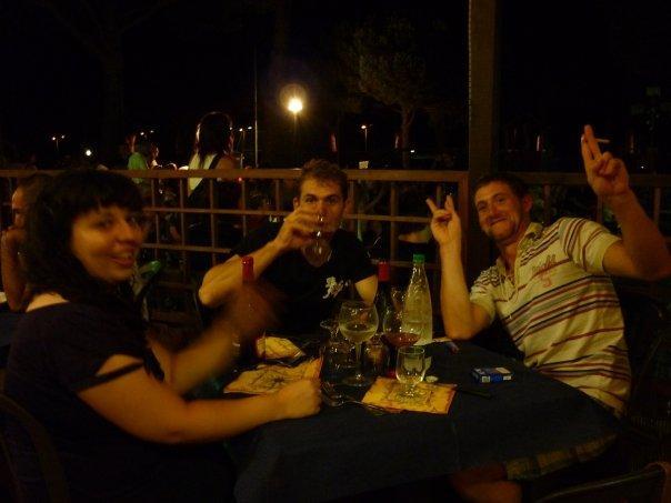 giorno 3: arrivati all'argentario, cena con la Frency e Martino