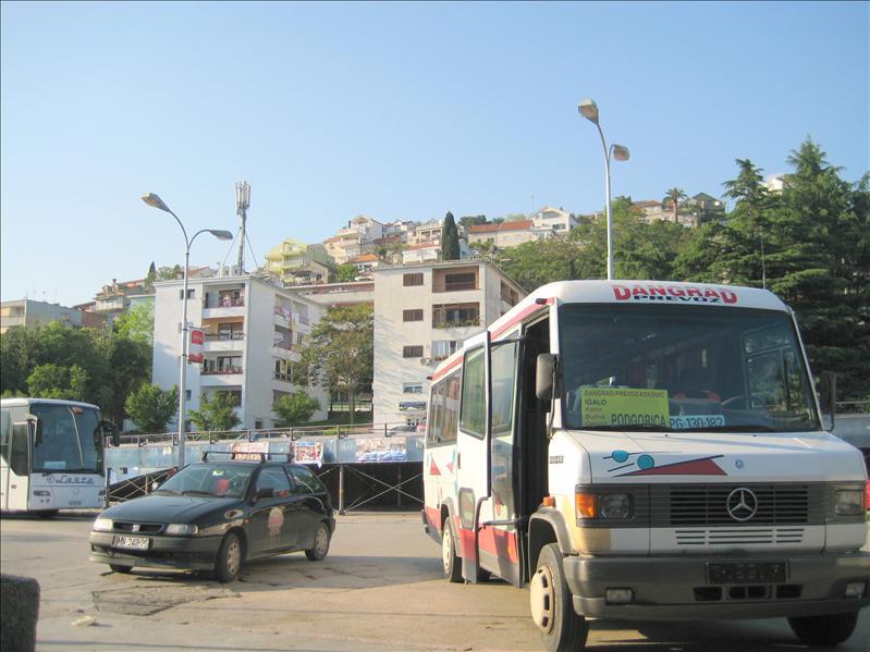 Our bus to Budva, Montenegro