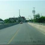 Crossing the bridge in Fenlon Falls