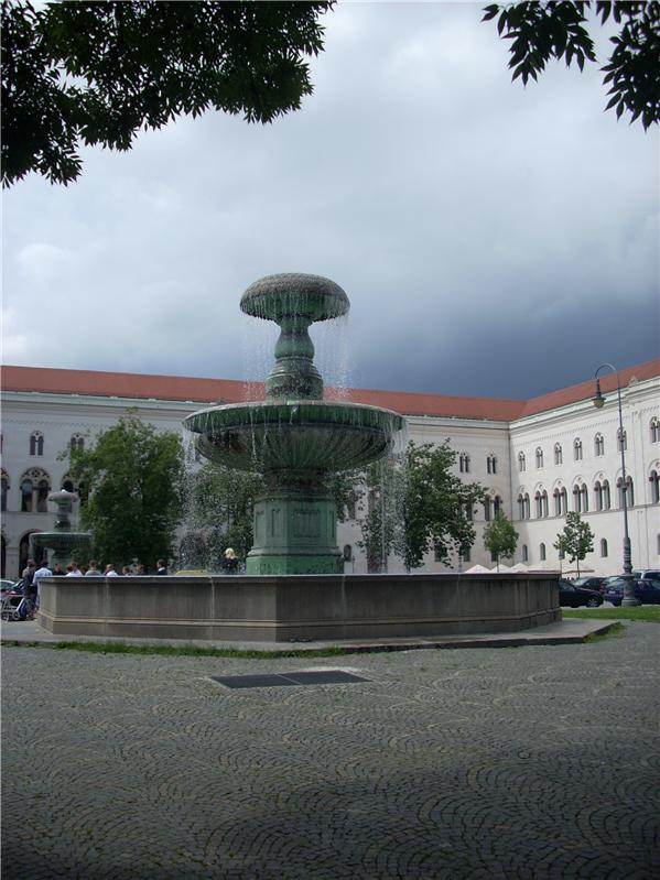 Fountain at the University of Munich