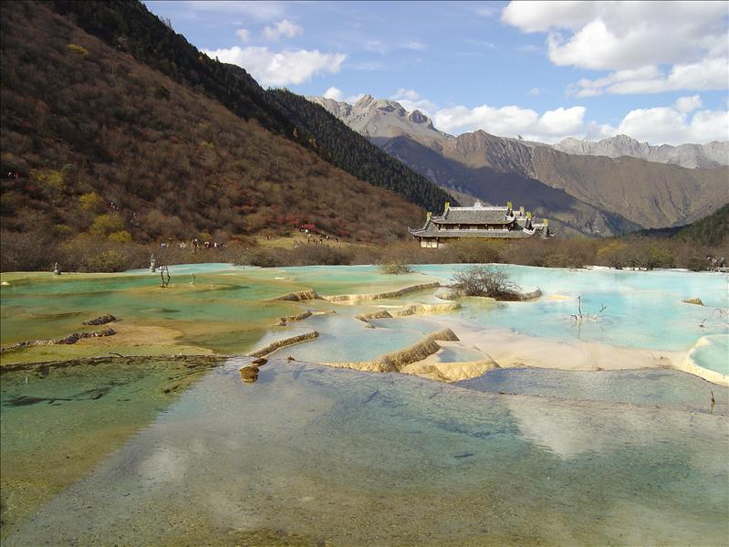 five colored pool (Huanglong)