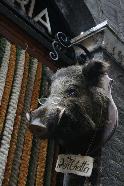 Siena - Porchetta (roast pork stuffed w/  things)