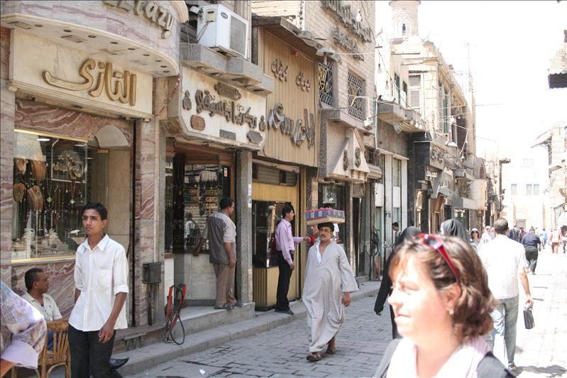 Walking at the bazar Khan al-Khalili (1/