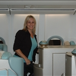 Lori and I flying 1st Class! Yippeeeeee!