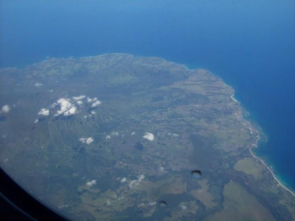 Flying over Kauai