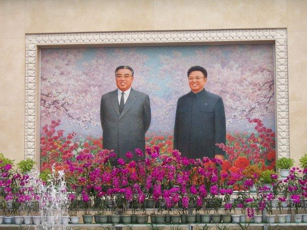 FLORAL TRIBUTES TO THE KIMS, PYONGYANG