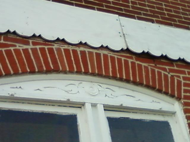 woodwork on the front of the building