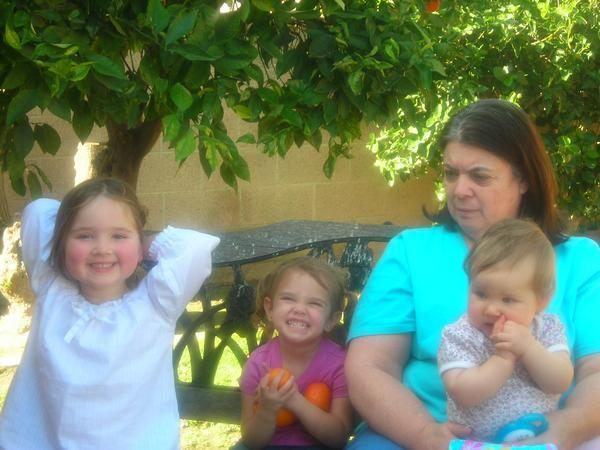 Aunt Laurie with her girls