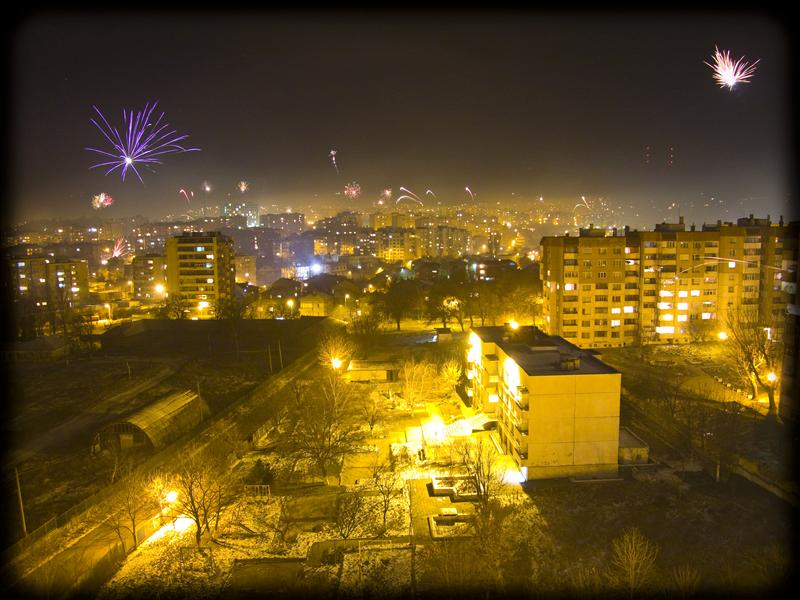 New Year Fireworks in Shumen