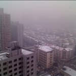 Snowing in Shanghai