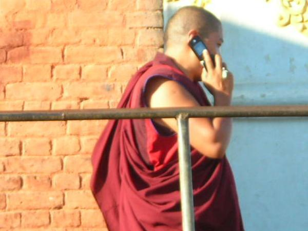 this was just funny...Buddhist monk on his cell